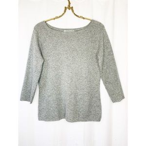 In Cashmere 100% grey cashmere pullover sweater